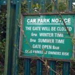 Abbey Lakes Car Park Notice